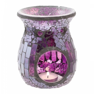 7.307.1 Duftlampe, Mosaik Glas lila