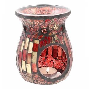 7.307.3 Duftlampe, Mosaik Glas rot