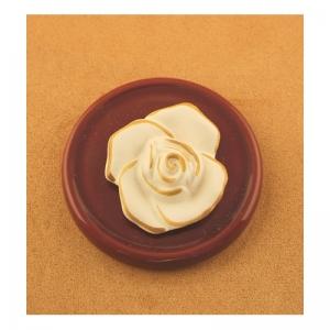 DS10.01 Duftstein Rose auf Unterteller