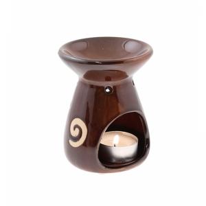 7.315.3 Duftlampe, Reiselampe Spirale/Stern braun