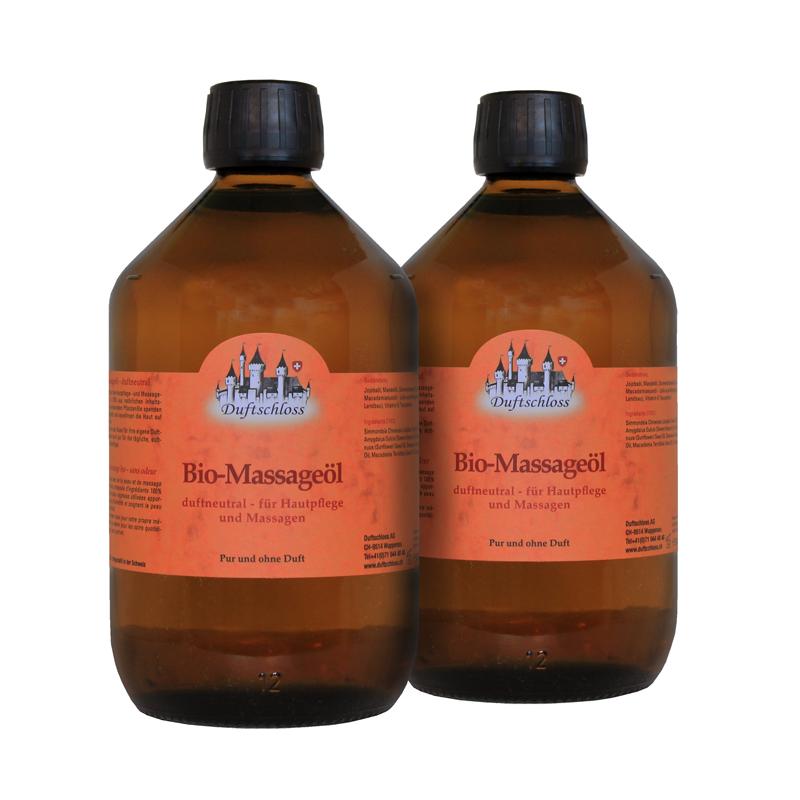 1000 ml - Bio Massageöl - duftneutral