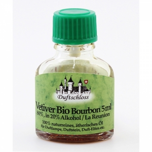 Vetiver Bourbon Bio, La Reunion, 80% in Alkohol, 5ml