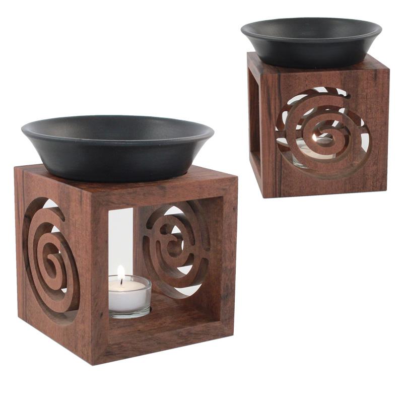 S2, Nussbaum Duftlampe, Spirale,